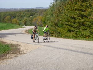John and Paul enjoying the climb out of the Green River valley