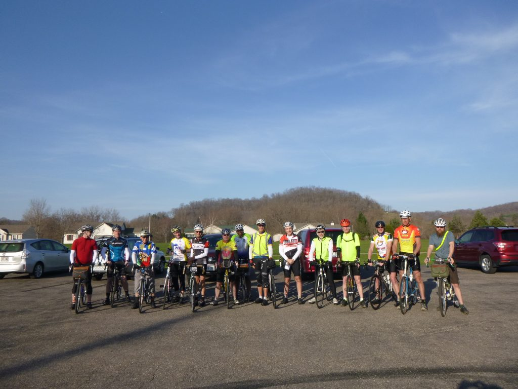 14 Riders at the start