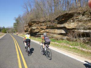 Limestone bluffs in the Kickapoo river valley.