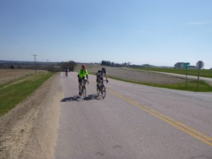 John Thier and Matt Levy at the top of the climb out of Norwalk.