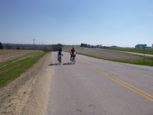 Dan and Steve top the climb. This was Dan's first brevet and he killed it!