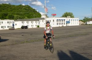 Jerry at the finish